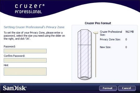 SanDisk Cruzer Pro software