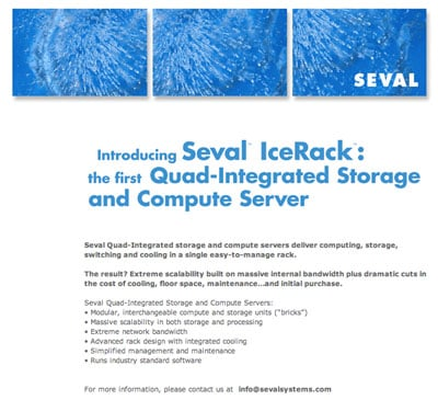 Seval Systems website before it mysteriously went down