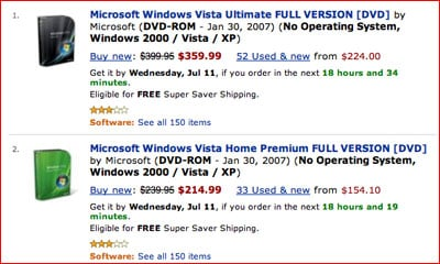 "Windows Vista featuring ""no operating system"""