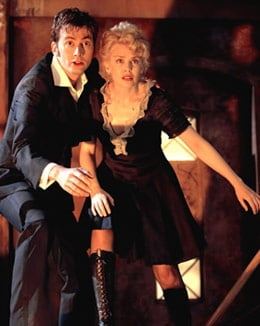 Kylie Minogue and David Tennant in Voyage of the Damned. Photo: BBC