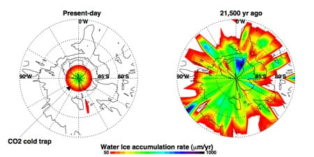 Martian water now, and 21,500 years ago: ESA