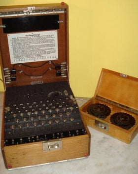 The Enigma machine as seen on eBay