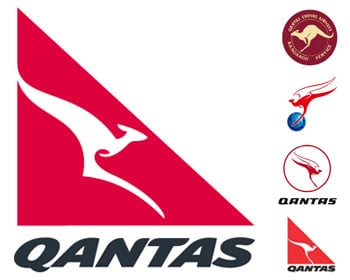 Qantas's logos through the ages