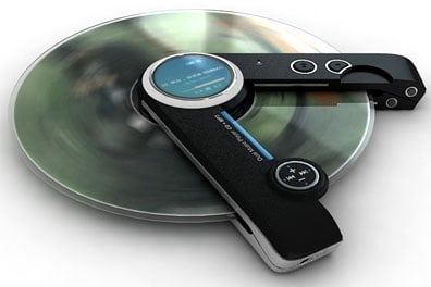 portable cd player puts mp3 into a spin the register
