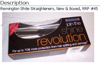 Those Remington Shite Straighteners, as seen on Bumblee