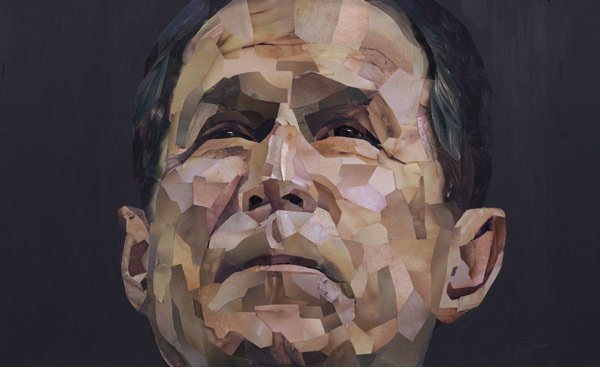 Jonathan Yeo's portrait of George Bush