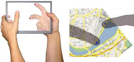 Microsoft/Mitsubishi 'translucent' touchscreen