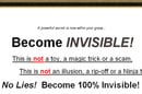 Become invisible offer on Ebay