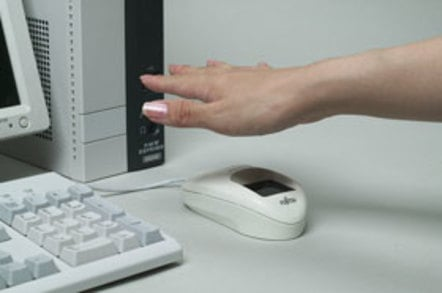 Fujistu palm-vein scanning mouse