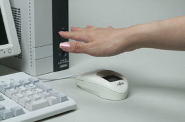 Fujistu palm-vein scanning mouse