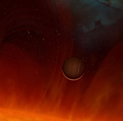 Artist's impression of the surviving planet.