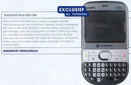 Treo 500v - image courtesy The Phone House