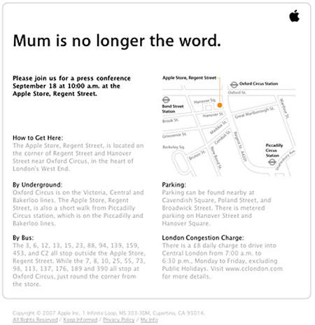 Apple's invite