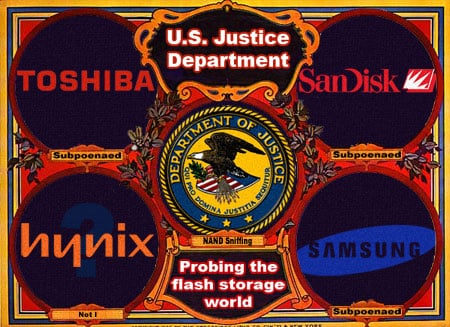 US Department of Justice widens NAND flash memory probe