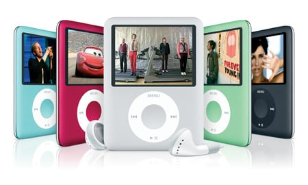 The iPod Nano range