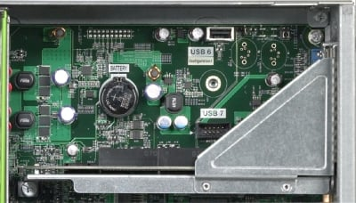 Shot of the USB port on the X4450 board