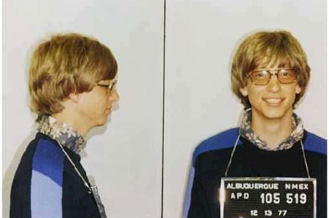 Bill Gates' 1970s' mug shot