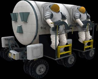 Concept vehicles, per NASA, for future manned exploration of the moon