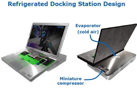 Intel/Embraco refridgerated laptop stand