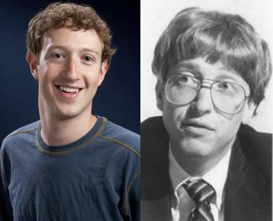 Bill Gates and Mark Zuckerburg