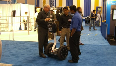 Segway at a robot show? That's roboridiculous