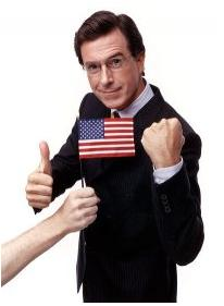 Stephen Colbert with US Flag