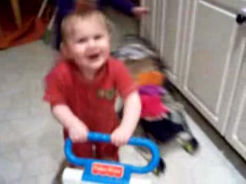 Baby Dancing to Prince on YouTube