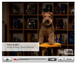 Andy Rubin's dog Alex: Google support?