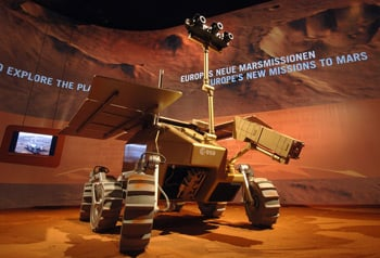 Artists impression of the rover. Credit: ESA