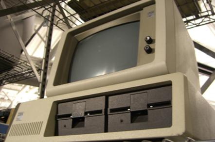 IBM personal computer money shot