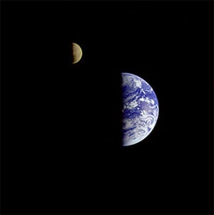 The Earth-Moon system is a rarity in the universe. Credit: NASA/JPL-Caltech