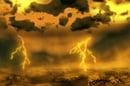 Artist's impression of a lightning storm on Venus. Credit: ESA