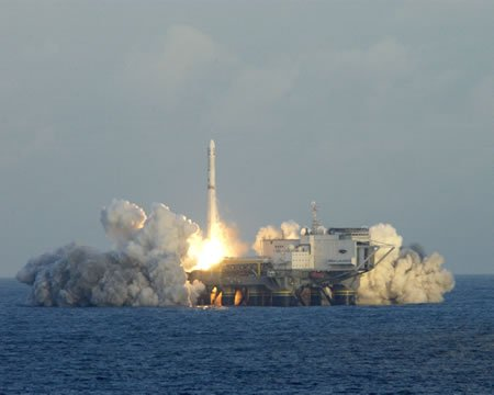 A successful sea based satellite launch