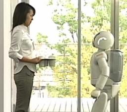 Asimo: now serves drinks