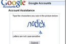 "Screenshot of Google captcha that reads: ""nodick"""
