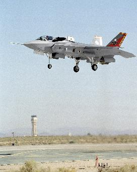 The earlier X-35 prototype during trials