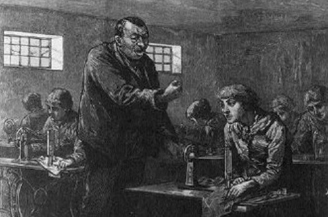 Sweatshop with boss, c.1888