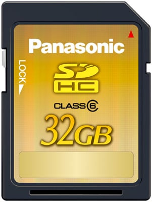 Panasonics 32GB SDHC