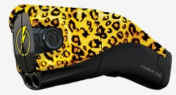 The leopardskin Taser C2