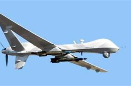 The MQ-9 Reaper drone in flight