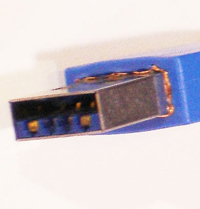 The standard USB 3 connector
