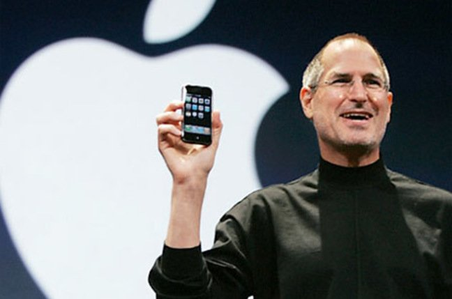 Steve Jobs unleashes the iPhone at Macworld last year