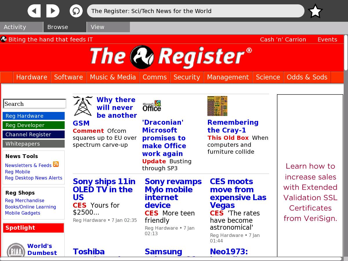 The OLPC XO laptop • The Register