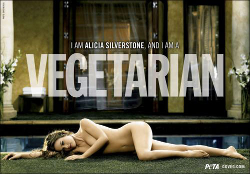 Peta pro-vegetarianism ad featuring Alicia Silverstone