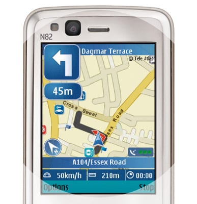 Nokia N82 satellite navigation