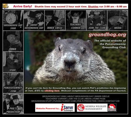 Groundhog Day Organisation website