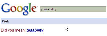 Google advises on Yousability