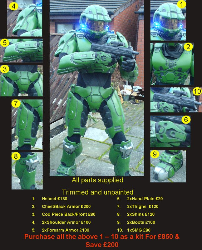 Halo Master Chief armour offered on eBay • The Register