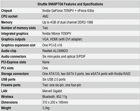 Shuttle XPC SN68PTG6 - features