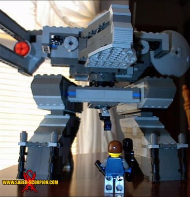 Metal Gear Rex...made from Lego